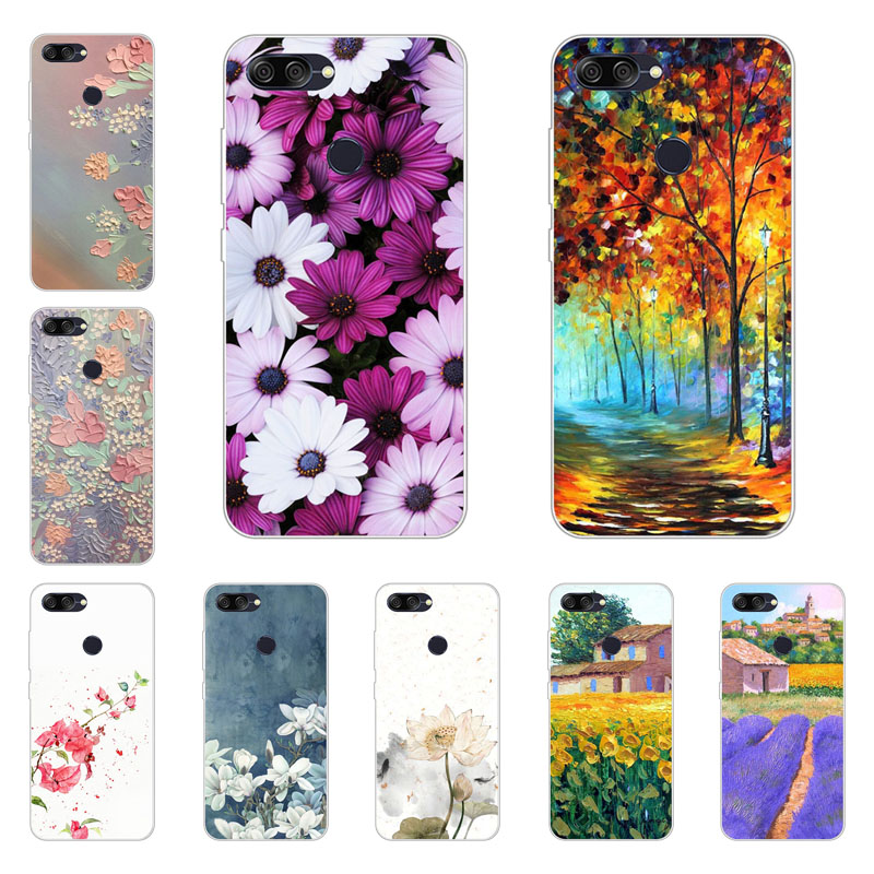Asus Zenfone MAX PLUS M1 ZB570TL case,silicon Flower Plants Painting Soft TPU Back Cover for Asus ZB570TL protect Phone shell