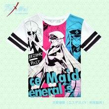 Anime Akame ga KILL! Esdeath T-shirt Polyester T-shirt Sommer Aktive Otaku Männer Frauen Kleidung