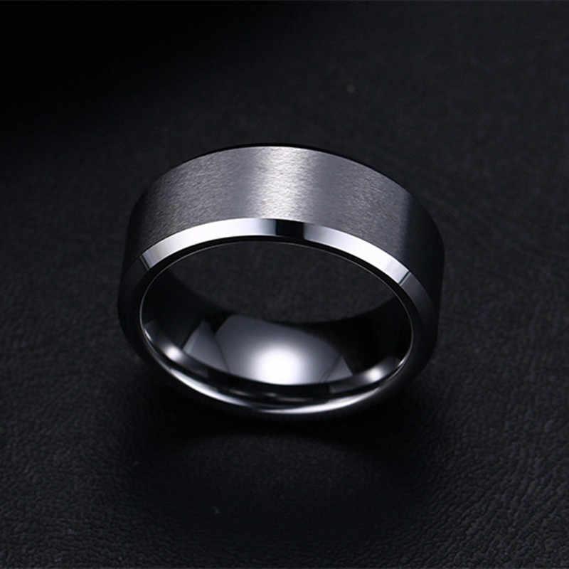 2017 Fashion Charm Sieraden ring mannen rvs Zwarte Ringen Voor Vrouwen