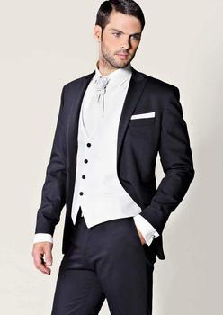 Wholesale Price Sell Groom Tuxedos Blazer Groomsmen Men's Prom Cothing Business Suits (Jacket+Pants+Vest+ Tie) NO:255