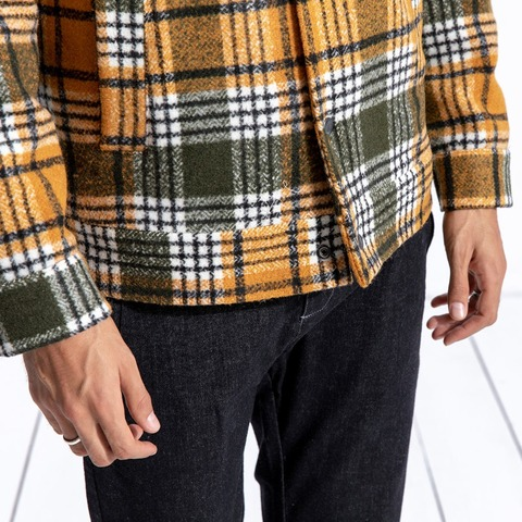 SIMWOOD 2019 Winter Men Jackets Fashion Plaid Casual Blends Jackets Warm Coats Men Outwear Brand Jacket abrigo hombre 180604 Islamabad