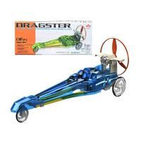 Dragster Electric Powered Racing Car Belt Gear Wind Triple Power Motivated Educational Toys Birthday Gift