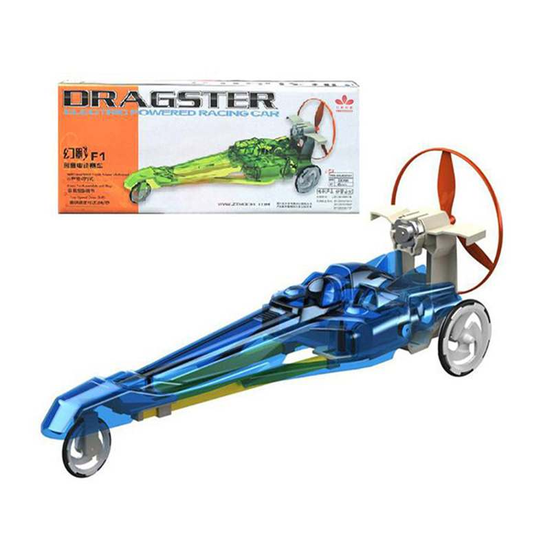 Dragster Electric Powered Racing Car Belt / Gear / Wind Triple Power - Juguetes de construcción - foto 1
