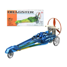 Dragster Electric Powered Racing Car Belt/Gear/Wind Triple Power Motivated Educational Toys Birthday Gift