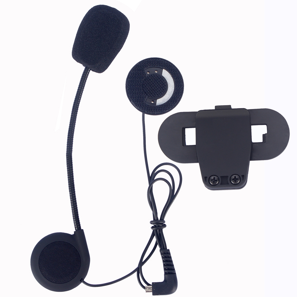 Microphone Earphone & Clip Accessories ONLY Suit For T-COMVB TCOM-SC Bluetooth Motorcycel Helmet Intercom Headset BT Interphone