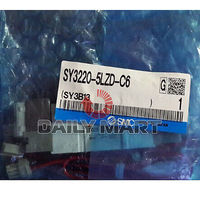 DHL/EMS 2 LOTS SMC NEW SY3220 5LZD C6 PLC SY3000 Solenoid Valve, Rubber Seal