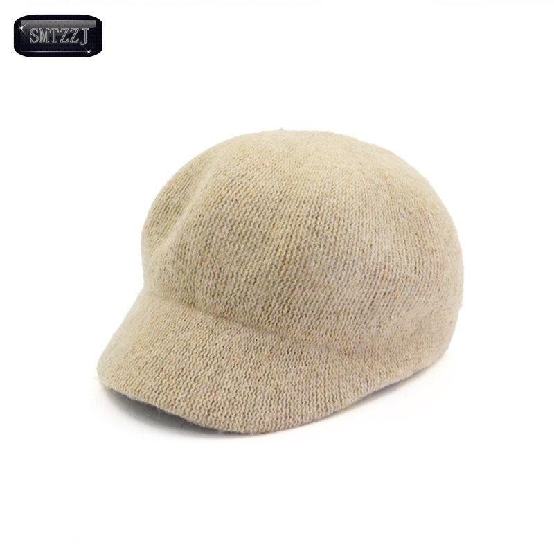 цены SMTZZJ Luxury Brand Fashion High Quality Wool Warm Knit Throwback Autumn Winter Baseball Cap Women Knitted Hats Cap Trucker Cap
