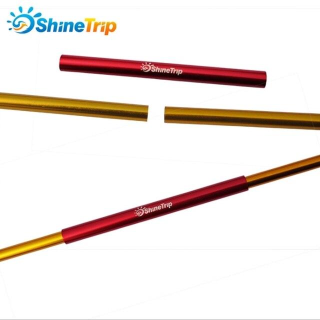 ShineTrip 4 pcs aluminum alloy tent pole repair tube single rod mending pipe lengthen13cm suitable below 8.5mm tent accessories