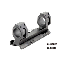 Hunting Tactical Scope Rock Solid 25.4mm 30mm weaver picatinny Rings QD Mounts Bases With Quick Detach Auto Lock System