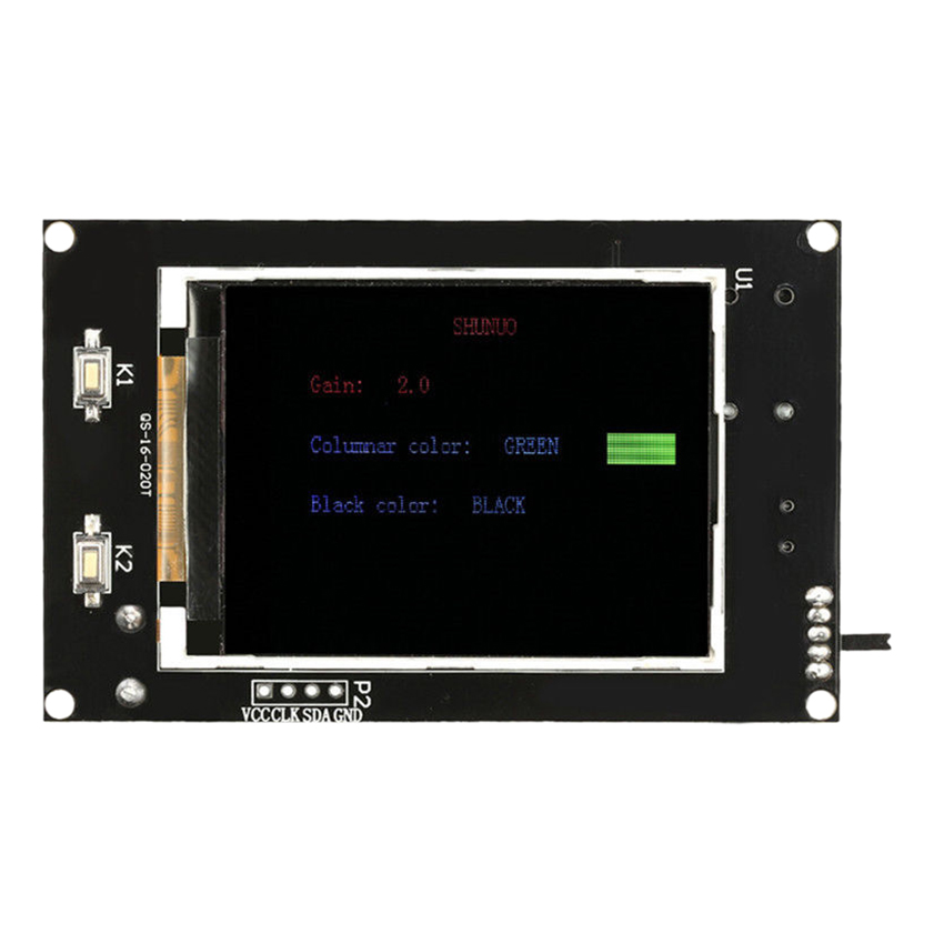 2 4 LCD Music Spectrum Display Analyzer MP3 PC Amplifier Audio Level Indicator Black