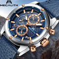 Модные спортивные мужские часы MEGALITH  водонепроницаемые силиконовые армейские часы с секундомером  кварцевые наручные часы