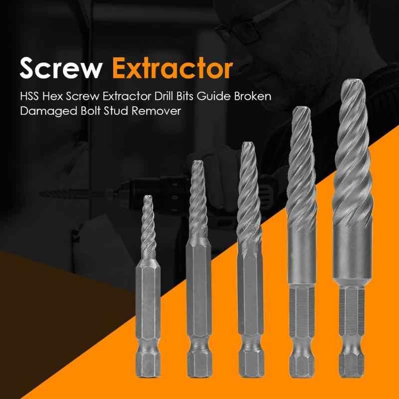 Guide de forets pour extracteur de vis à tête hexagonale HSS outils de réparation de voiture