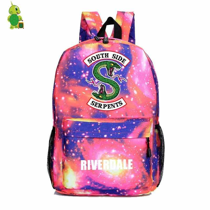 ... Riverdale South Side Galaxy Backpack Children School Bags Women Men  Casual Travel Rucksack boys girls Book ...