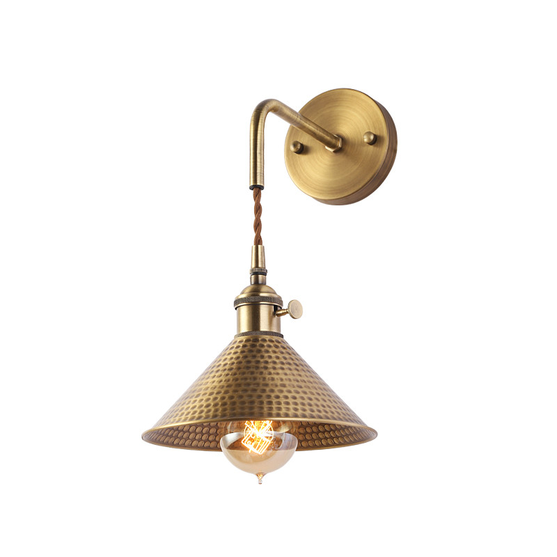 Loft Style Adjust Copper Wall Sconce Edison Vintage LED Wall Light Fixtures With Switch Bedside Wall Lamp Indoor Lighting simple modern led wall lamp reading switch adjust wall light fixtures home fabric shade bedside wall sconce indoor lighting