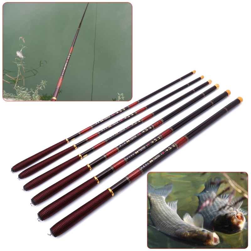 Fishing Rod 2.7-7.2m Pole High Carbon Fiber Ultra Light Telescopic Carp Current Summer Fishing