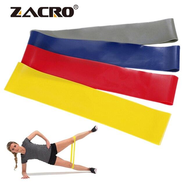 Látex Faixas da Resistência Pilates Elástico Faixas De Borracha 0.45-0.9mm para o Treinamento de Fitness Workout Exercício Yoga Esporte Banda