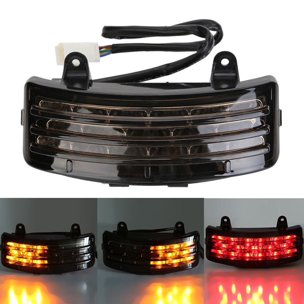 Motorcycle LED Rear Fender Tail Brake Light With Turn Signals Taillight For Harley FLHX / FLTRX Street Glide Touring