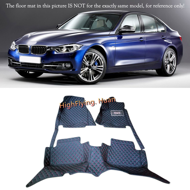 Interior Floor Mats & Carpets Foot Pads For BMW 3 Series F30 2013 2014 2015 2016