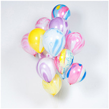 100pcs/lot Transparent Printed Late Confetti Tassel Balloons Happy Birthday Baby Shower Wedding Party Decorations D30