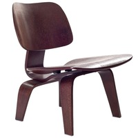 Cadeira moderna da sala de estar da madeira compensada da cor de wenge baixa cadeira do salão para a mobília da sala de estar meados do século