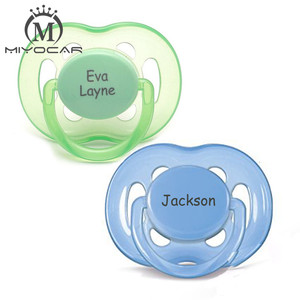 Image 5 - MIYOCAR personalized any name can make 2 pcs pacifier dummy unique gift to baby custom pacifier