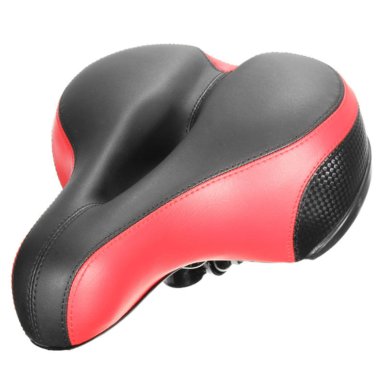 Wide Thicken Bicycle Saddle <font><b>Seat</b></font> Soft Silicone With Reflective Stickers MTB Road Bike Saddle <font><b>Seat</b></font> Cycling Hollow Cushion Saddle