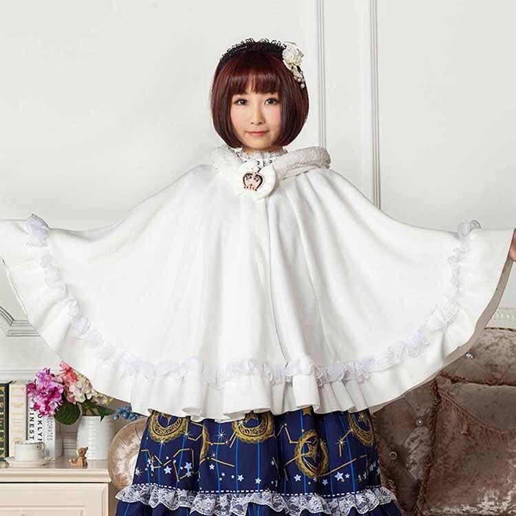 ჱEncantador Blanco polar Harajuku estilo Lolita princesa de la ...