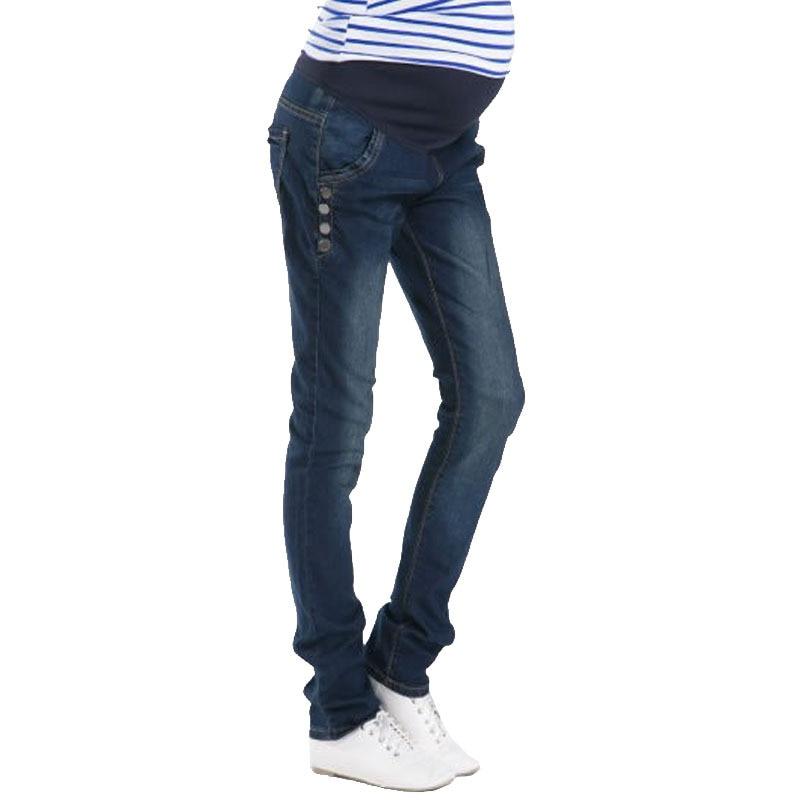 Denim эластичный пояс средства ухода за кожей для будущих мам джинсы для беременных женщин брюки для девочек одежда для беременных женщин беременность для автотранспортных костюмы maternidad осень-зима