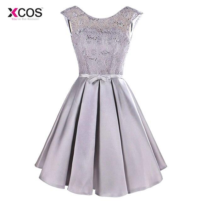 90feaa385ce Women Short Cocktail Dresses Cap Sleeve Knee Length Puffy Skirt Semi Formal  Gown Party Banquet Dress Vestido de Festa
