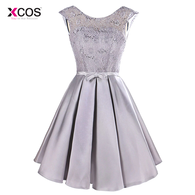 Women Short   Cocktail     Dresses   Cap Sleeve Knee Length Puffy Skirt Semi Formal Gown Party Banquet   Dress   Vestido de Festa