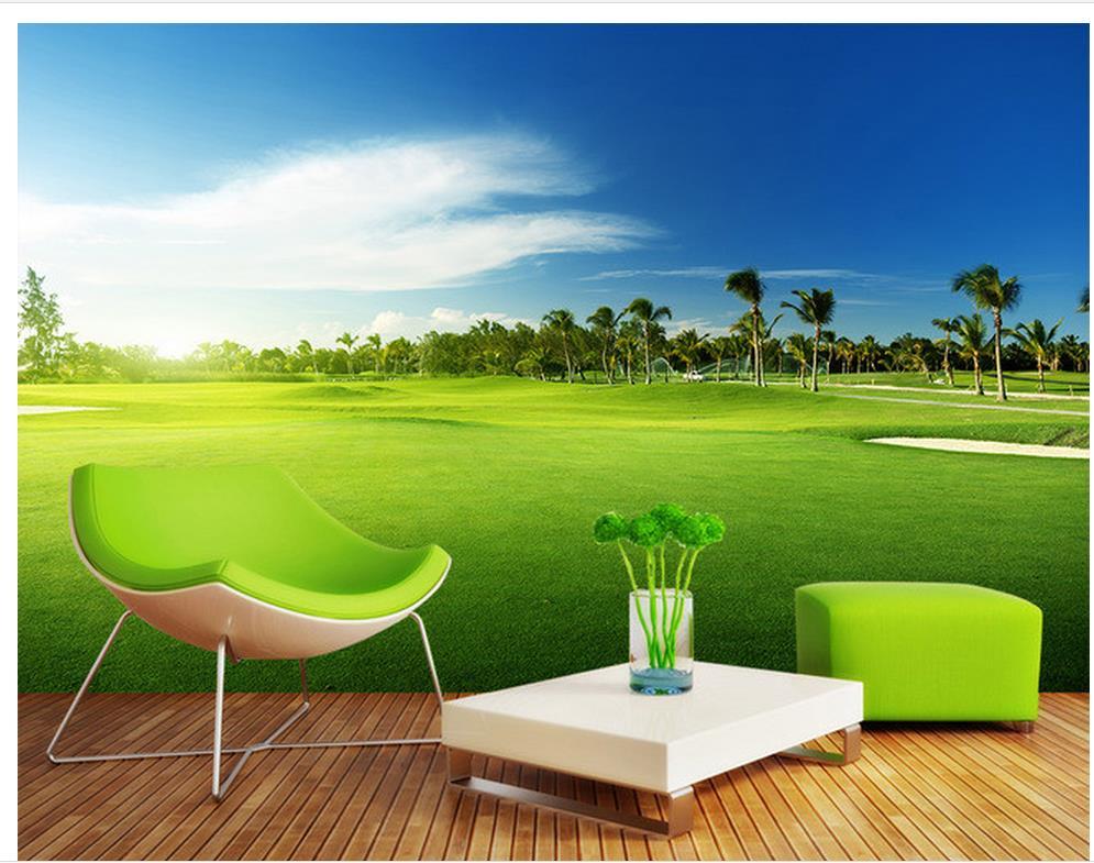 3d behang 3d aangepaste behang golf meadow landschap for Extra mural courses