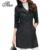 Moda tlzc mujeres delgadas capas de foso más tamaño m-4xl nueva llegada de la Primavera Otoño Invierno Negro/de Color Caqui Botón de Señora Long Outwear