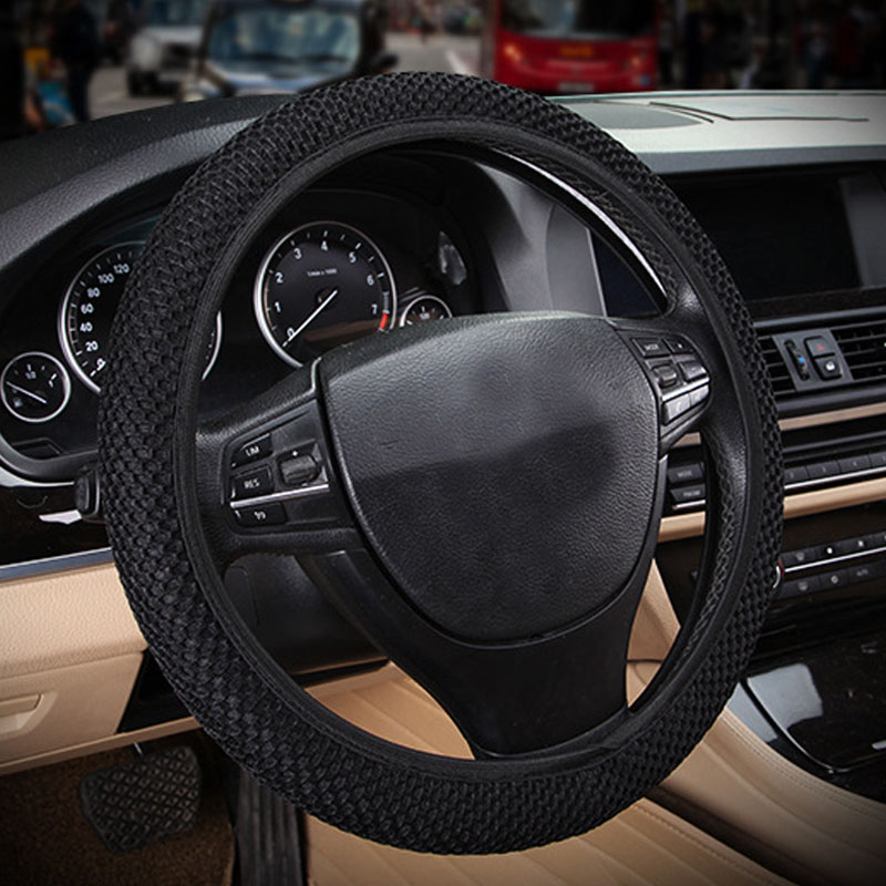Car Steering Wheel Cover 3D Universal Breathable Big Mesh Without Inner Circle Anti-Slip Four Seasons Decoration Car Accessories