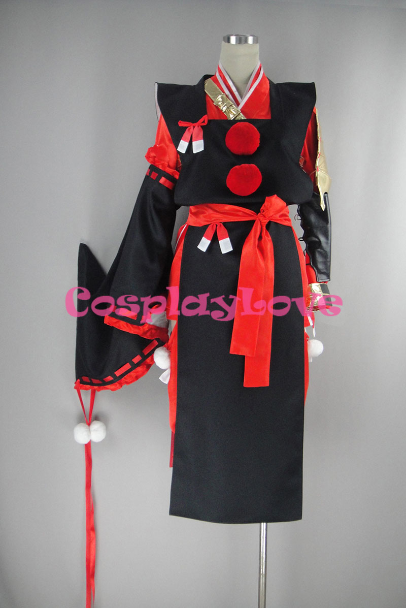 Touken Ranbu Online Kogarasumaru Black and Red Cosplay Costume Custom Made Women Man For Christmas Halloween CosplayLove