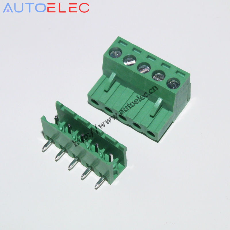 100sets 5Pin 508mm Pcb Electrical Screw Terminal Block Connector