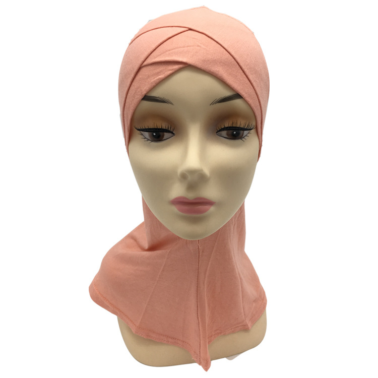 12pcs bag Can Pick Colors Pure Cotton Double Cross Muslim Cap Ninja Islamic Underscarf ship mix