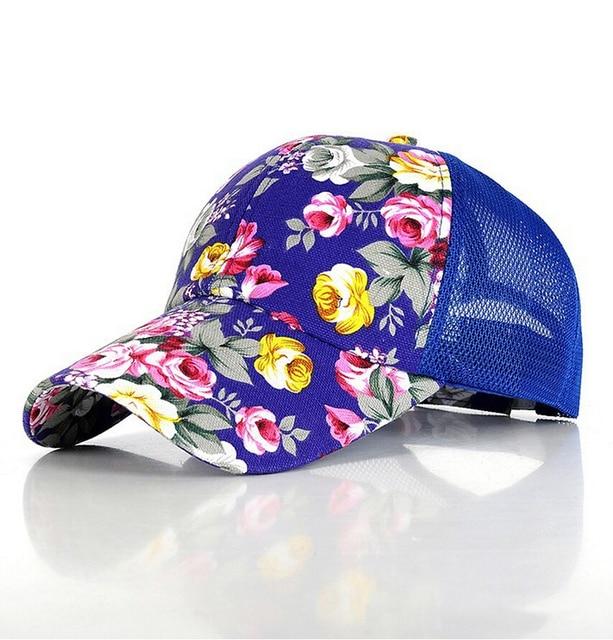 2017  New Women Baseball Hats  Sunshade Gorras Vintage Floral Rose Bone Snapback Caps Hip hopSummer Planas Flower Hip Hop Hat
