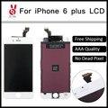10 шт./упак. 100% Нет Мертвых Пикселей для IPhone 6 Plus ЖК-ДИСПЛЕЙ 5.5 Дисплей С Сенсорным Экраном Замена Digitizer Ассамблеи Черный или Белый