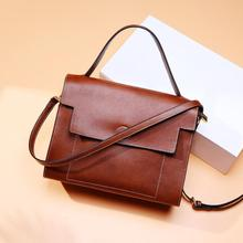 Leather Handbag Women Bags Fashion Shoulder Bag Red Flap Tote Ladies Messenger Bag men fashion business handbag dual use handbag shoulder bag tote flap bag chest bag