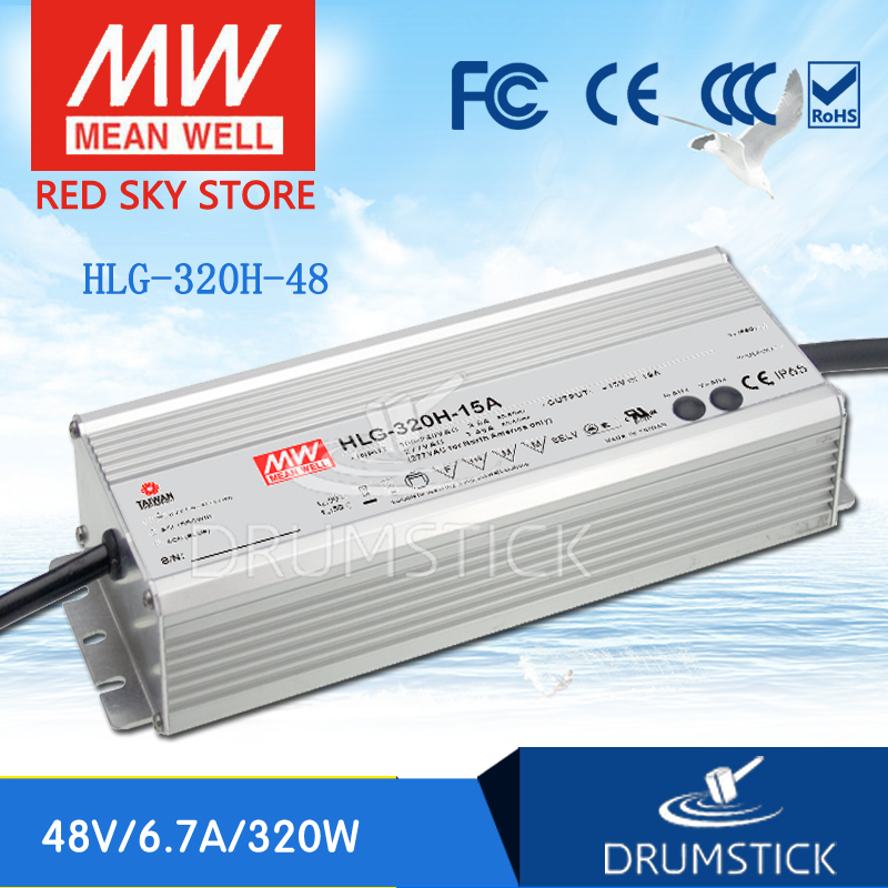 MEAN WELL HLG-320H-48 48V 6.7A meanwell HLG-320H 48V `321.6W Single Output LED Driver Power Supply genuine mean well hlg 320h 36b 36v 8 9a hlg 320h 36v 320 4w single output led driver power supply b type