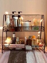 2019 New Arrival None Metal RaTieyi Shelf Cosmetics Ins Kitchen Desktop Double-deck Dormitory Artifact
