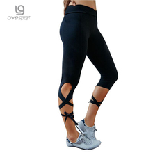 2017 Summer New Fashion Women Sporting Leggings Fitness Workout Women Leggins Stretch Breathable Tie Pants Elastic Ladies Pants