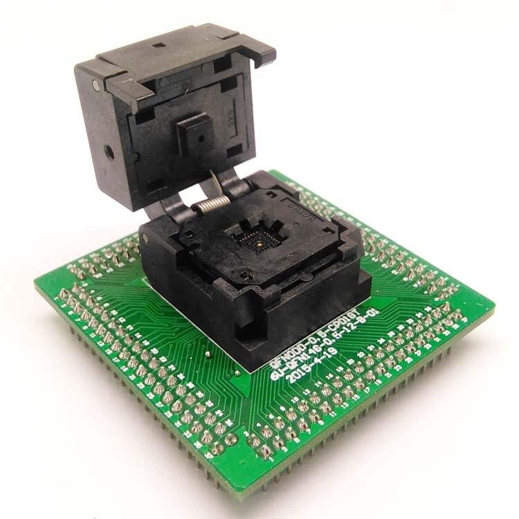 QFN28 MLF28 WLCSP28 à DIP28 adaptateur de prise de programmation pas 0.5mm IC taille du corps 5x5mm IC550-0284-011-G prise de Test à clapet