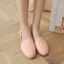 Girls casual flats women round toe leisure shoes ladies femal fashion zapatillas mujer sweet candy color footwear big size 3136