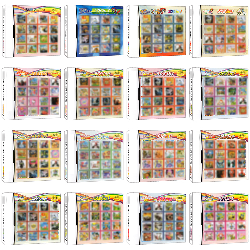 Video Game Cartridge Card DS3DS2DS Super Combo Games Console Cart All In 1 Compilations Multi Game