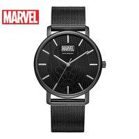 Disney Официальный Marvel Мстители для мужчин женщина тонкий повседневные часы нержавеющая сталь водостойкие любителей пара m 9086 Relogio Masculino