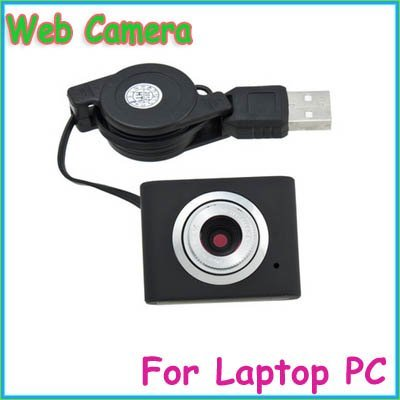 FreeShipping!!!Mini USB 5M Retractable Clip WebCam Web Camera Kamera For Laptop PC Black/Pink 10pcs/lot
