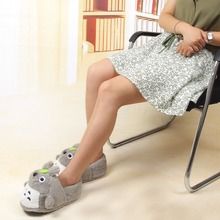 Totoro Cosplay Slippers Cartoon Plush Warm Home Shoe