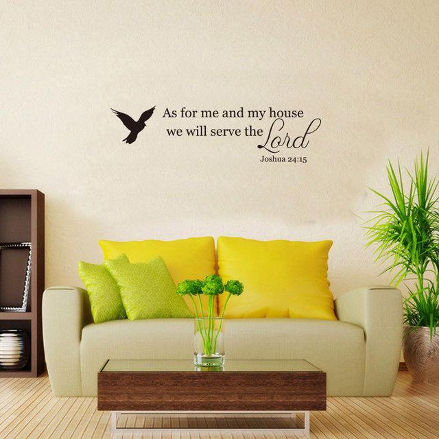 YOYOYU 40 colors Art Vinyl wall sticker Bible Scripture Removeable ...