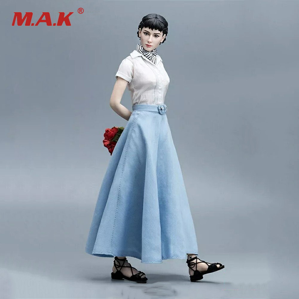 цена Collctible Full Set Female Doll 1/6 Goddess In My Heart Audrey Hepburn Movable Action Figure Model Toy for Collection
